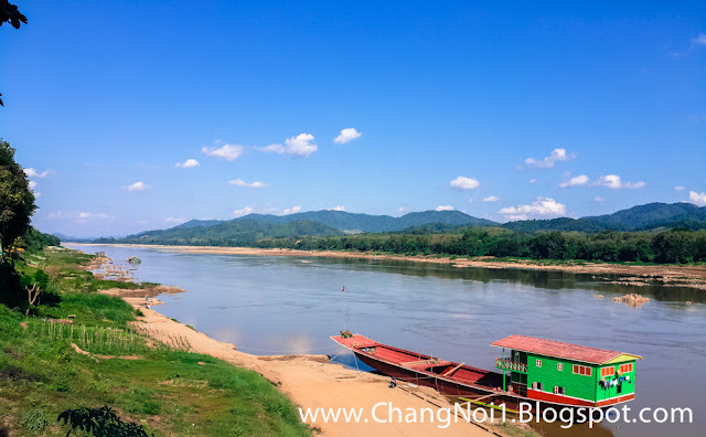 The Mekong River at Paklay in Laos