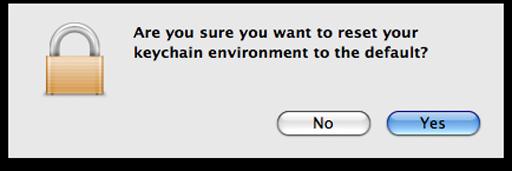 Reset Keychain to default