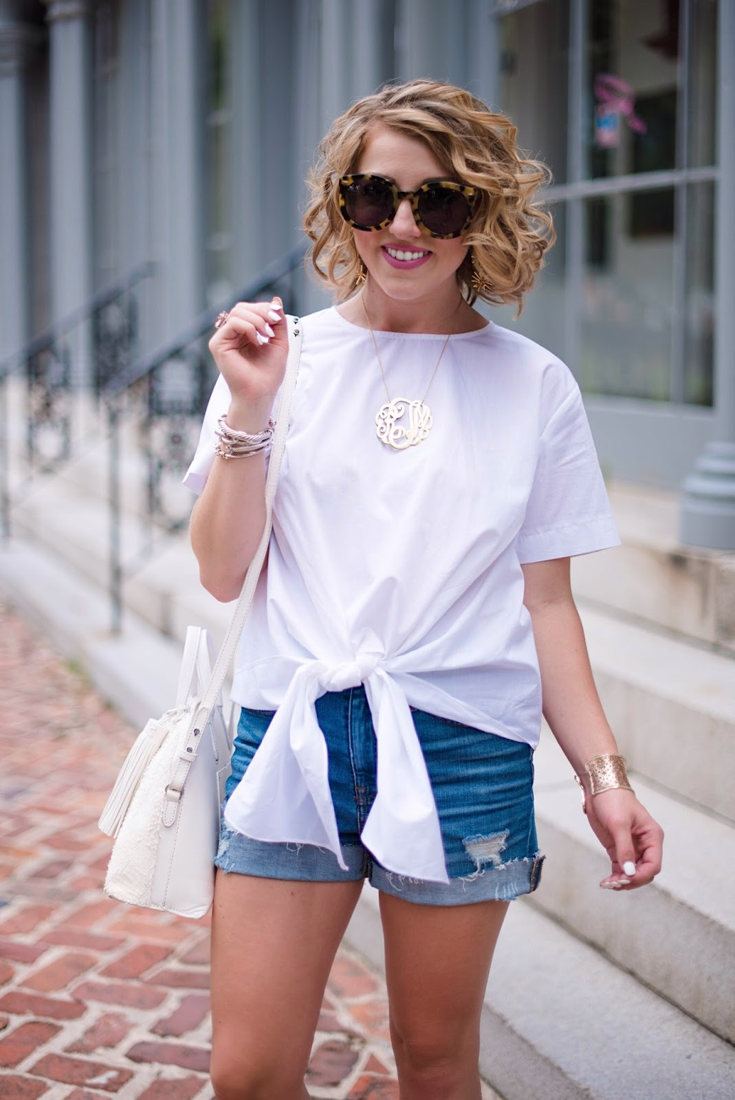 Tie Front Top - Click through to see more on Something Delightful Blog :)