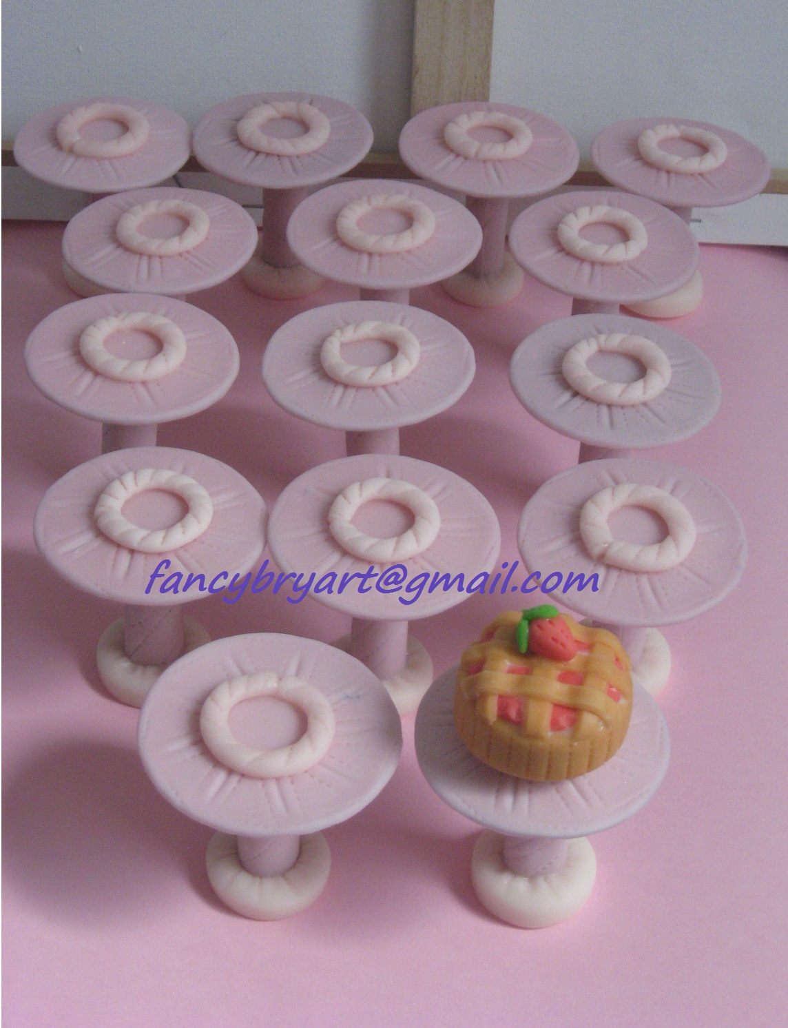 FancyBry Art: Alzatine segnatavoli: nuovi dolci
