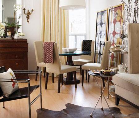 Twine Repurposing an Open Dining Room