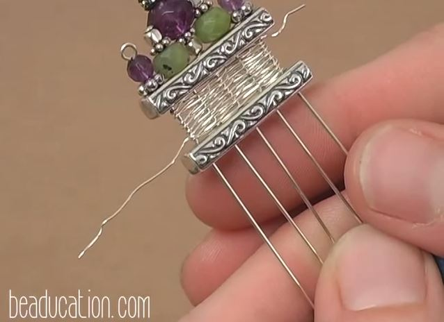 Clever Basket Weave Wire Tutorial Uses Loom Weaving Action - The ...