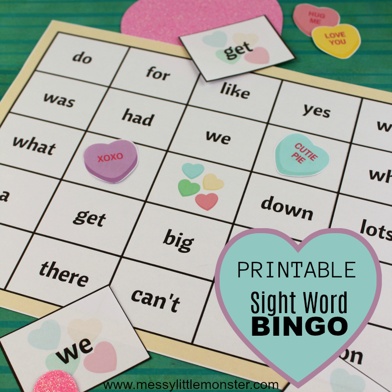 graphic about Sight Word Bingo Printable referred to as Sight Phrase Bingo Match - Messy Tiny Monster