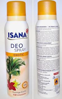 Isana deo spray Exotic, antyperspirant w sprayu