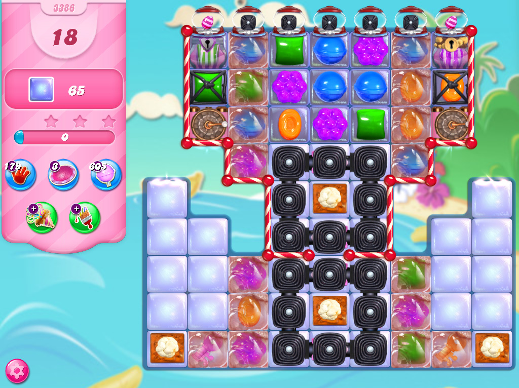 Candy Crush Saga level 3386