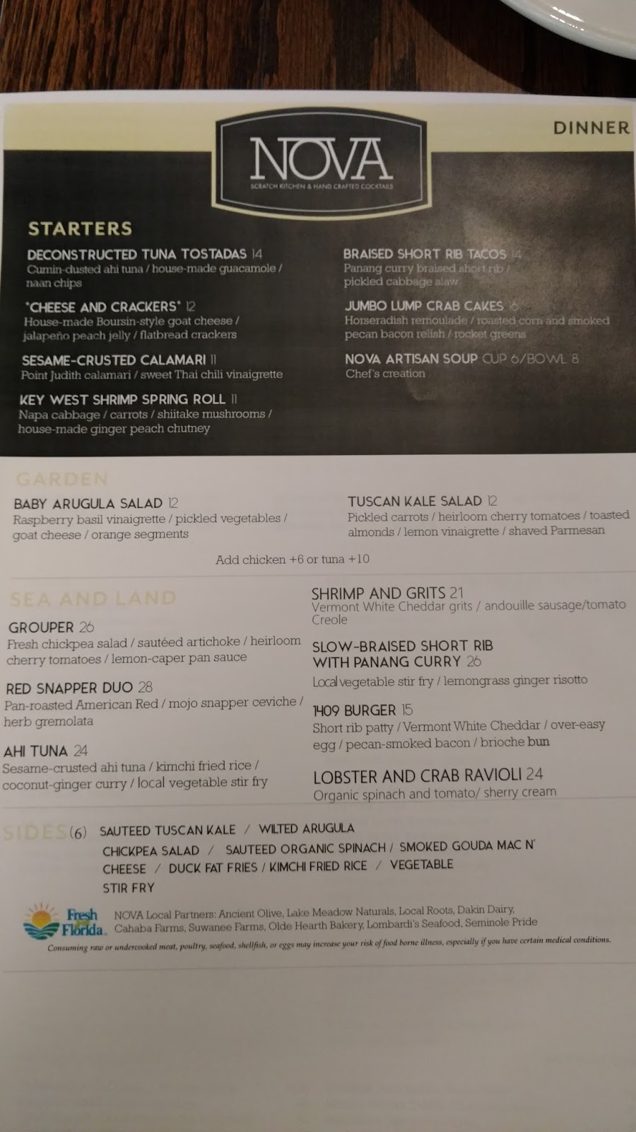 Scratch Kitchen Menu Eat Local Orlando Nova Scratch Kitchen Orlando