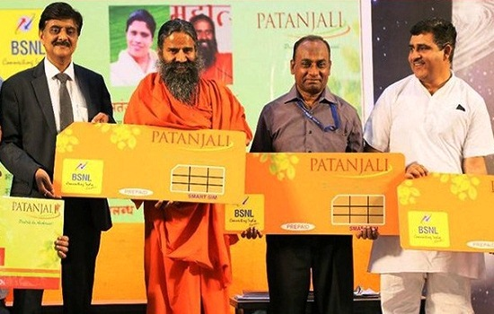 BSNL launched 'Patanjali BSNL Plan' @ just ₹144 with unlimited calls, data 2GB/Day & SMS for Patanjali Group