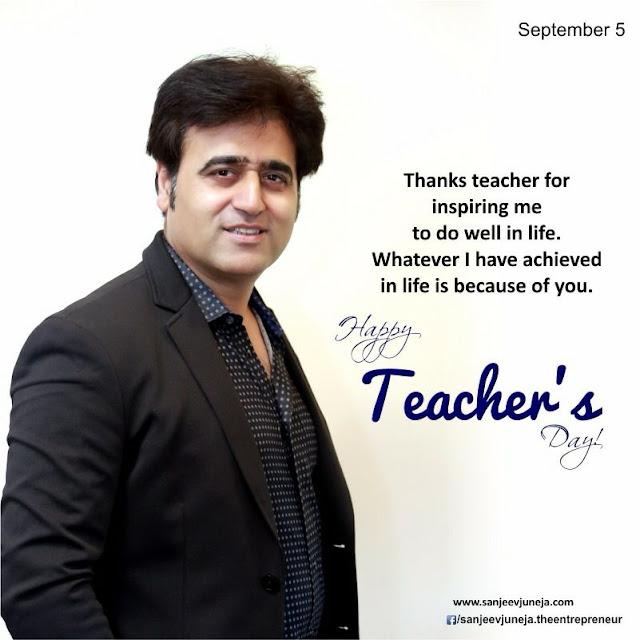 Happy Teacher Day - India-Sanjeev Juneja