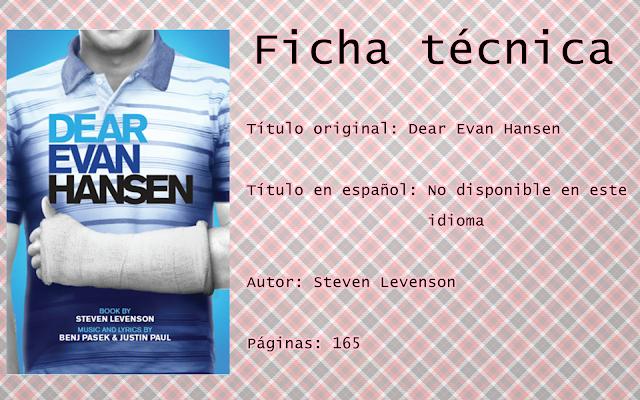 """Reseña """"Dear Evan Hansen"""""""