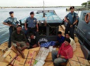 Lantamal I Belawan Tangkap Kapal Penyelundup Anggrek Dan Balpress Dari Thailand