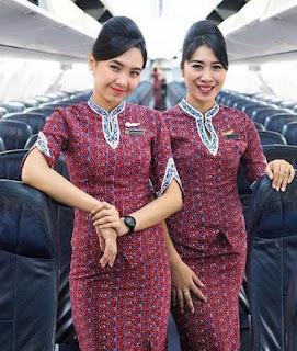 Model Baju Batik Pramugari Terbaru 2018