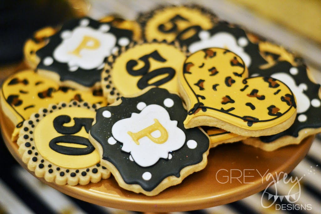 Greygrey Designs My Parties Black And Gold Glamorous 50