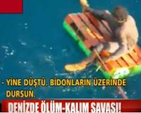 Denize Atılan Kaçaklar Böyle Ölüm Kalım Savaşı Verdi