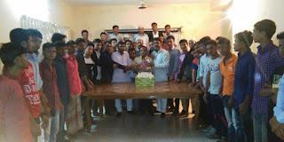 কানাইঘাট পৌর ছাত্রদলের আহবায়ক বাবলুর জন্মদিন পালন