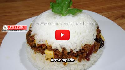 Receta de Arroz tapado  Un receta típico Peruana deliciosa y sencilla de preparar.