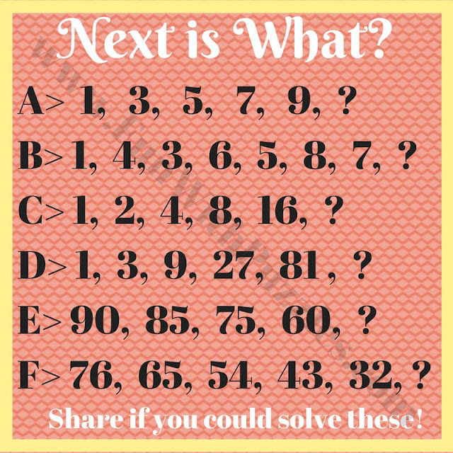 Can you find next number in sequence puzzles for kids?