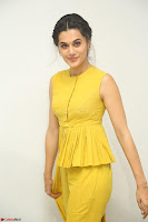 Taapsee Pannu looks mesmerizing in Yellow for her Telugu Movie Anando hma motion poster launch ~  Exclusive 052.JPG
