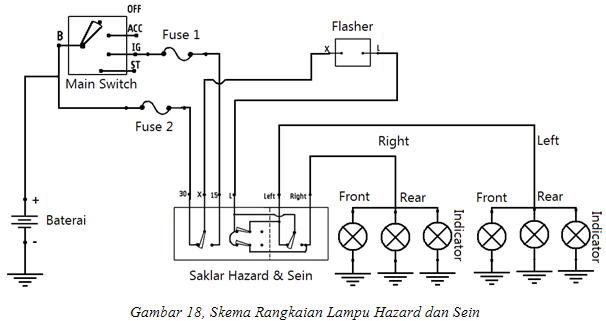 wiring diagram lampu depan mobil