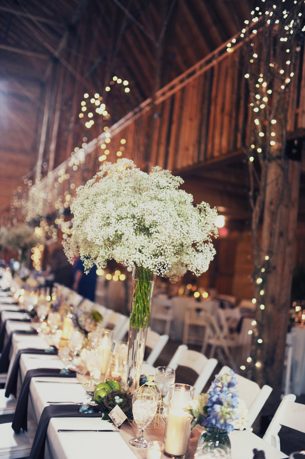 barn+wedding+rustic+horse+cowboy+cowgirl+babys+breath+centerpieces+bouquets+floral+arrangement+blue+baby+powder+burlap+woodland+organic+brown+barnhouse+groom+bridal+lace+bride+something+blue+Melissa+McCrotty+Photography+17 - Baby's Breath in the Barn