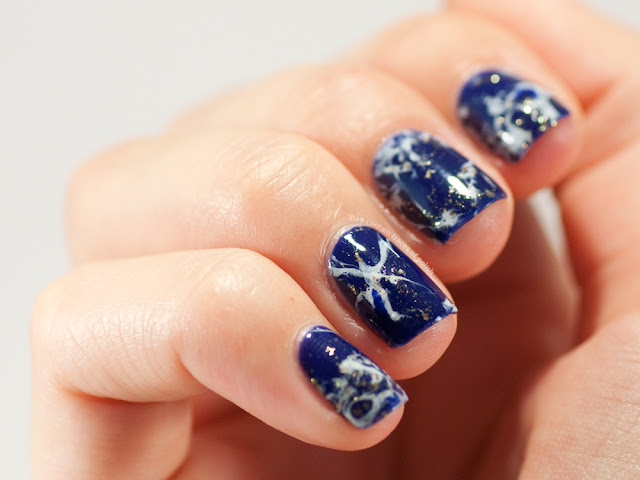 Blue Stone Marble Nails May Contain Traces Of Polish