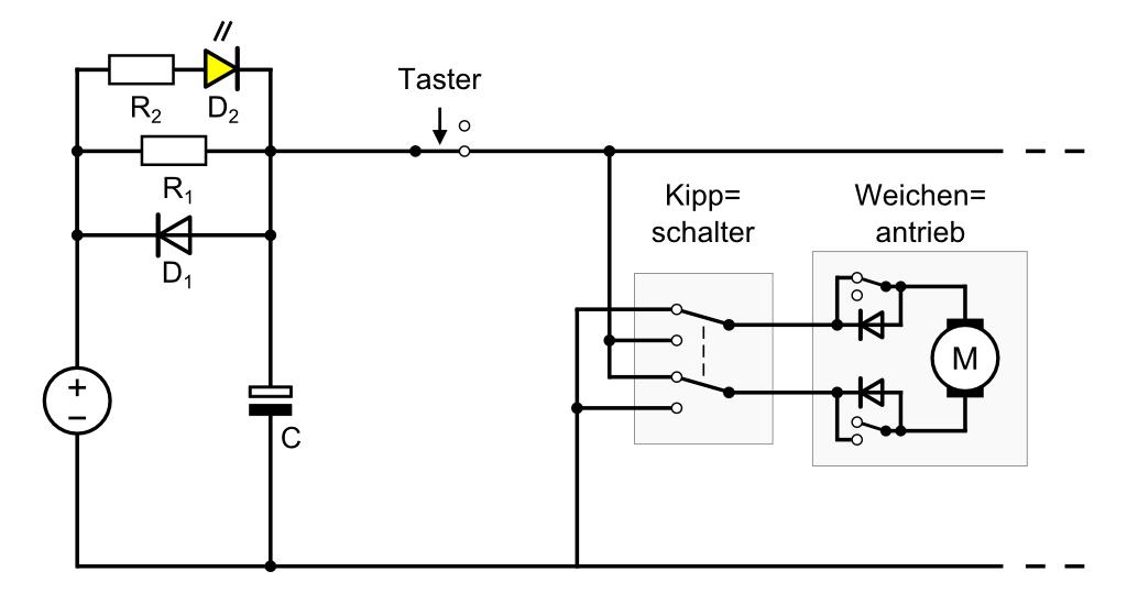 Modellbahn-Technik-Blog: Strombegrenzung für Weichenantriebe