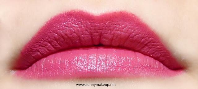 Swatch sulle labbra. Neve Cosmetics - Sisters of Pearl. Matita labbra Duebaci nella colorazione Mermaid.