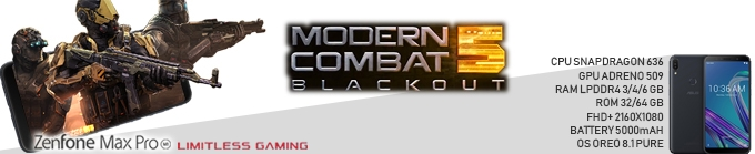 "Game Experience Smartphone "" Limitless Gaming "" Modern Combat 5"