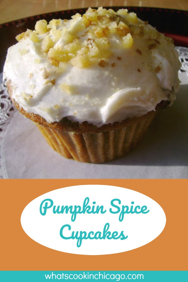titled image (and shown): Pumpkin Spice Cupcakes