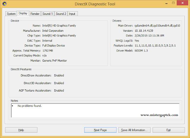 Cara Melihat Spesifikasi VGA di Windows
