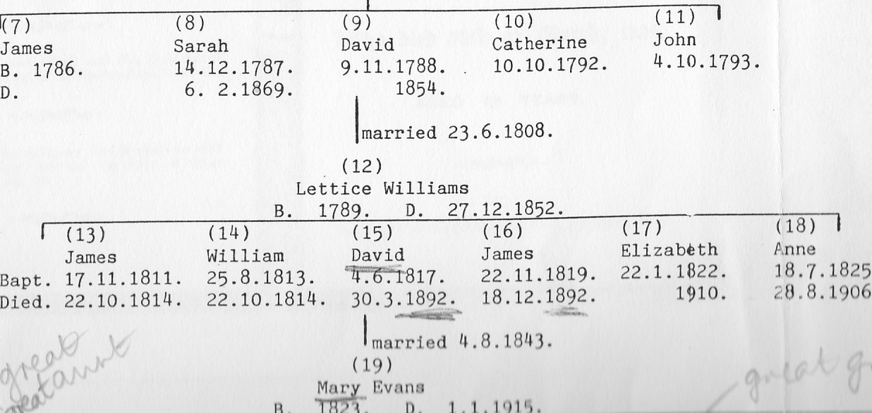 Where are we all Now: The Williams Family from Llansawel in Wales to