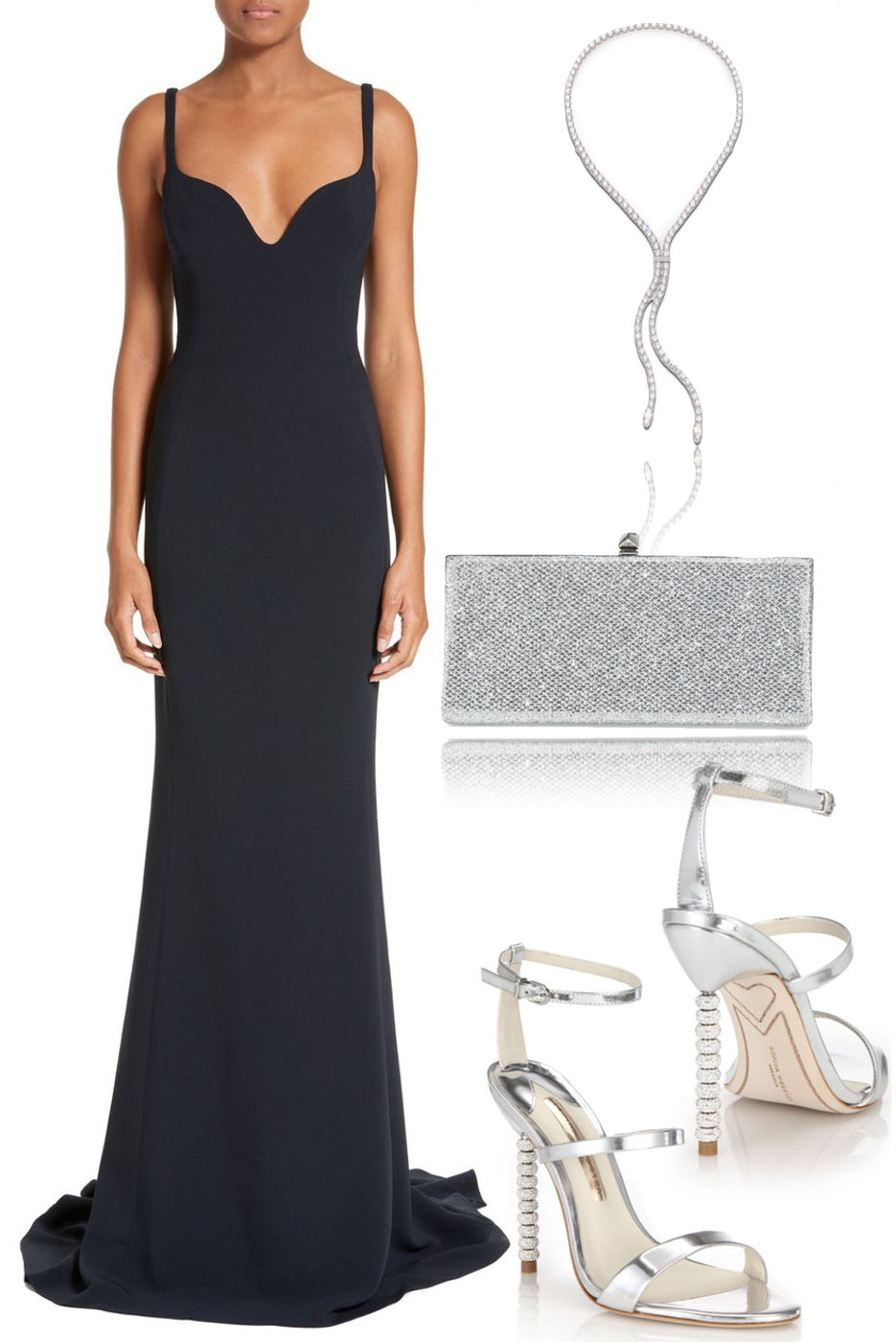Stella McCartney Sweetheart Neckline Gown