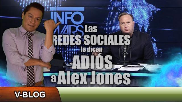 Las redes sociales le dicen adiós a Alex Jones (Video)