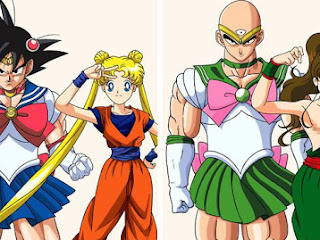 Como seria se Dragon Ball Z se juntasse com Sailor Moon