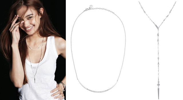 Stella & Dot Crescent Necklace + Bianca Lariat