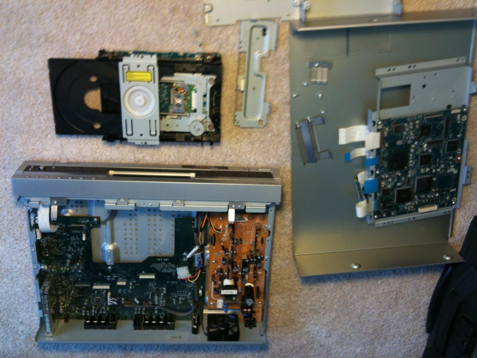Disassemble Sony RDR GX-300