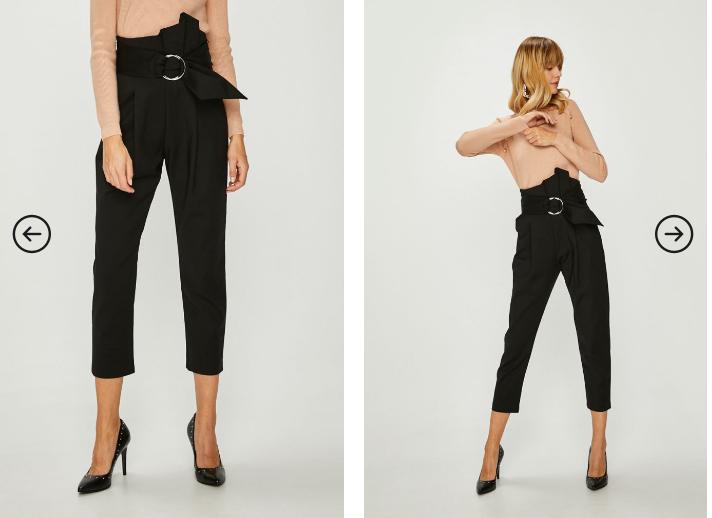 Answear - Pantaloni dama negri eleganti cu talie inalta