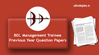 BDL Management Trainee Previous Year Question Papers