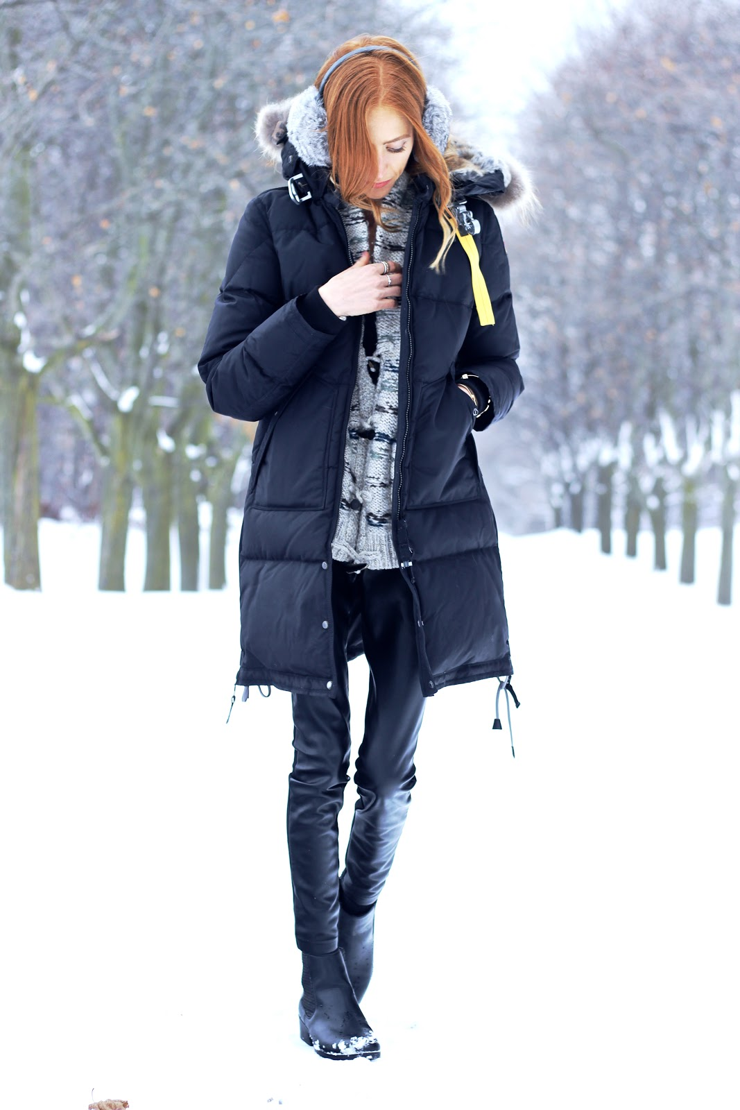 ... Parajumpers Womens Long Bear parka, Cougar COPE boots, Canadian Winter