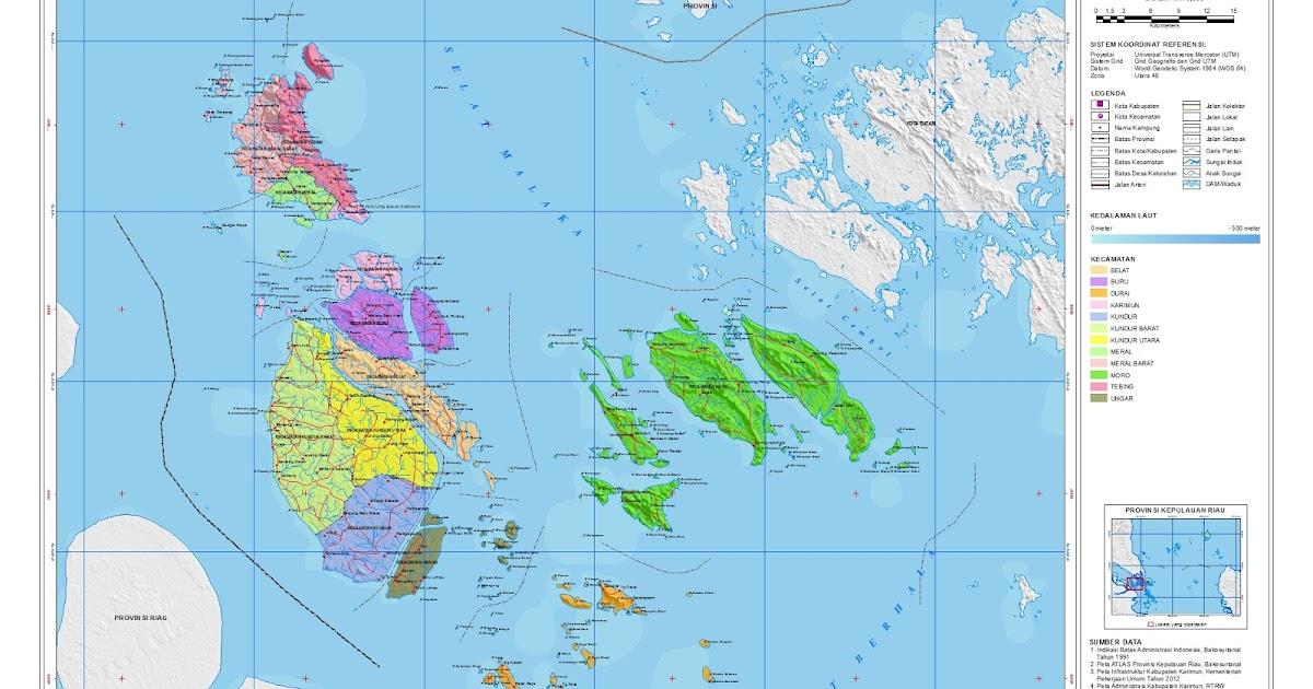 Peta Kota: Peta Kabupaten Karimun