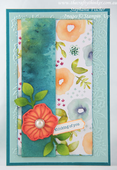 #thecraftythinker, #stampinup, #brusho, #cardmaking, Eclectic Layers, Brusho, Petal Pair, Stampin' Up Australia Demonstrator, Sydney NSW