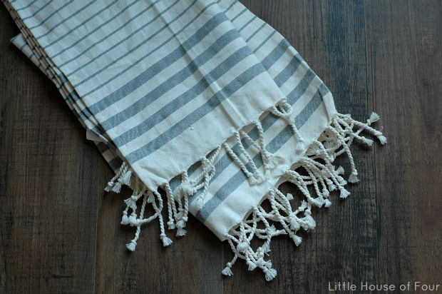 A quick and easy tea towel pillow is the perfect update for any space!