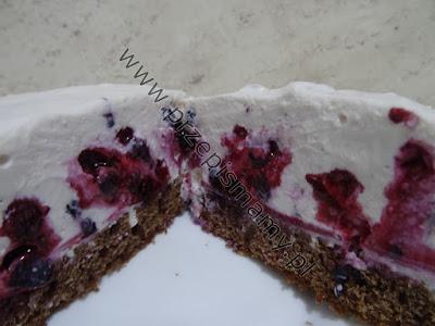 Ciasto z masą serową i jagodami