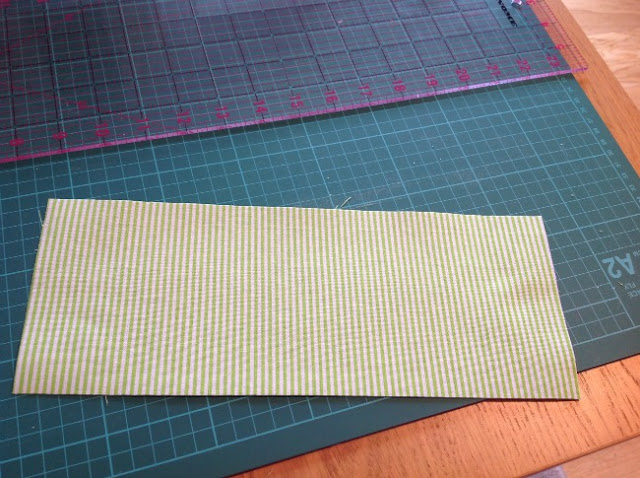 fused fabric on cutting mat