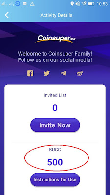 Bucc Tokens Airdrop Gratis dari Coin Super