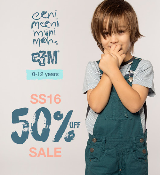 Last chance and 50% reductions on eeni meeni miini moh and e3-M SS16