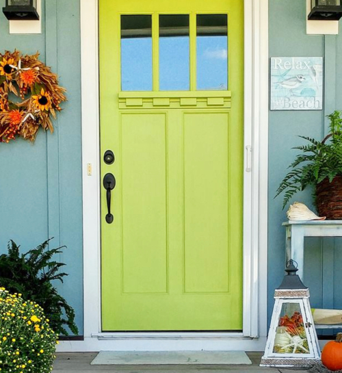 Beach Cottage Front Door Fall Decor