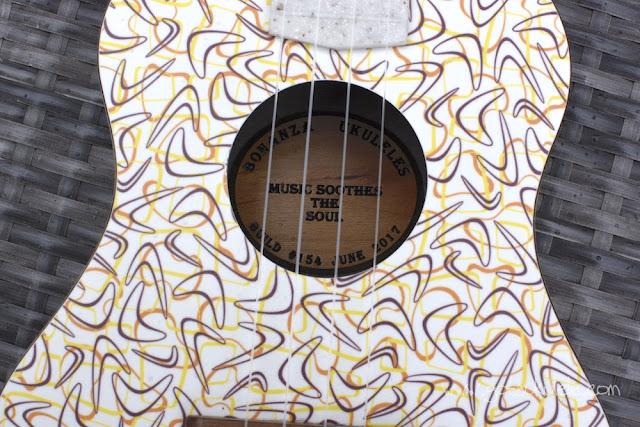 bonanza concert ukulele sound hole