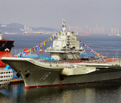 New Chinese aircraft carrier was recently challenged by US Aegis cruiser