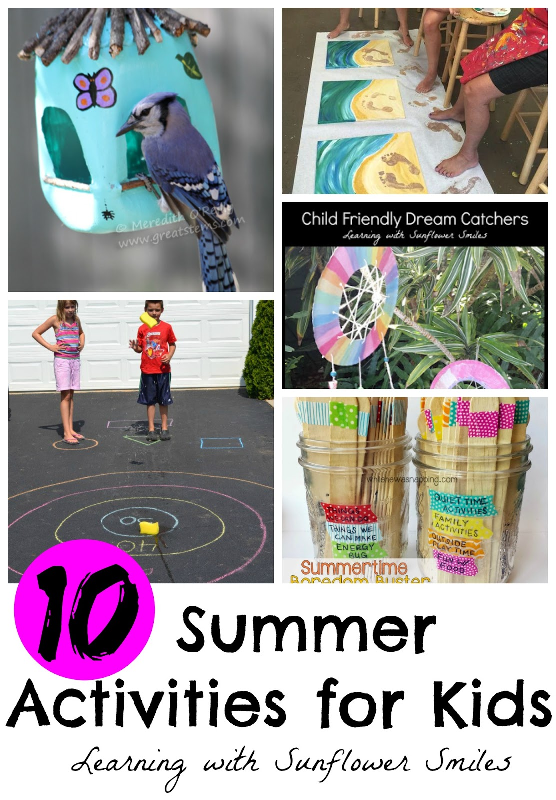 Learning with Sunflower Smiles: 10 Summer Fun Activities for the Kids