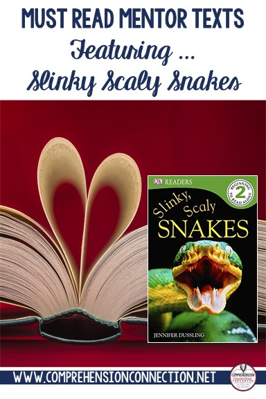Check out this post for teaching ideas to go with the book, Slinky Scaly Snakes. It's a great book for research, nonfiction text features, main idea, and more.